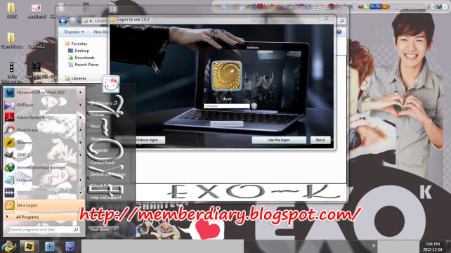 desktop exo-k theme